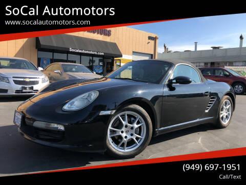 2005 Porsche Boxster for sale at SoCal Automotors in Costa Mesa CA