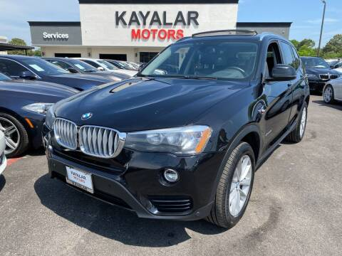 2016 BMW X3 for sale at KAYALAR MOTORS in Houston TX