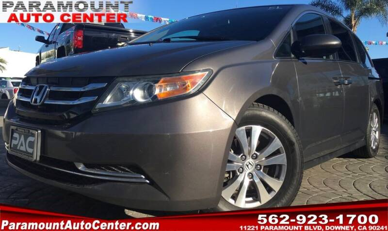 2017 Honda Odyssey for sale at PARAMOUNT AUTO CENTER in Downey CA