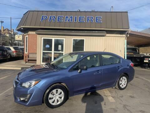 2016 Subaru Impreza for sale at Premiere Auto Sales in Washington PA