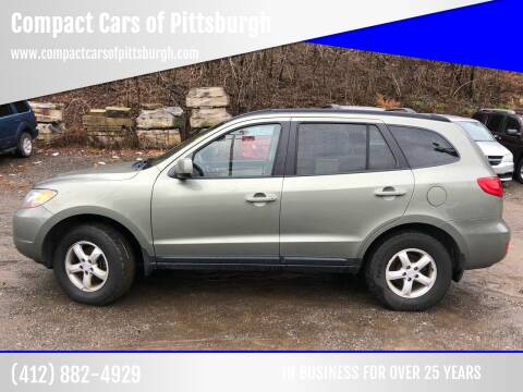 2008 Hyundai Santa Fe for sale at Compact Cars of Pittsburgh in Pittsburgh PA