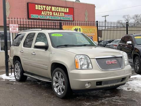 2013 GMC Yukon for sale at Best of Michigan Auto Sales in Detroit MI