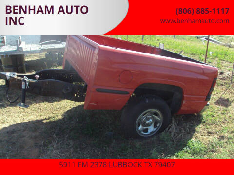Dodge TRAILER for sale at BENHAM AUTO INC - Benham Auto Trailers in Lubbock TX