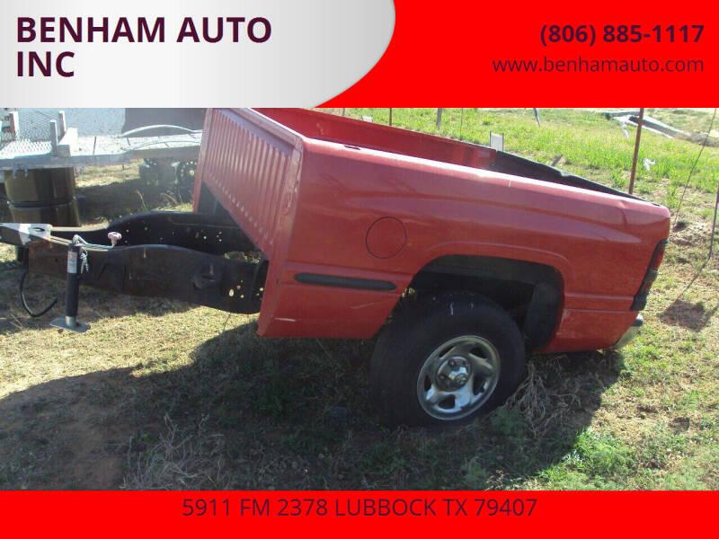 Dodge TRAILER for sale at BENHAM AUTO INC - Benham Auto Trailers in Lubbock TX