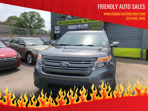2012 Ford Explorer for sale at Friendly Auto Sales in Detroit MI