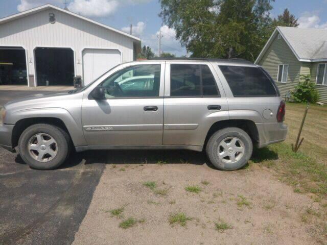 2002 Chevrolet TrailBlazer for sale at JIM WOESTE AUTO SALES & SVC in Long Prairie MN