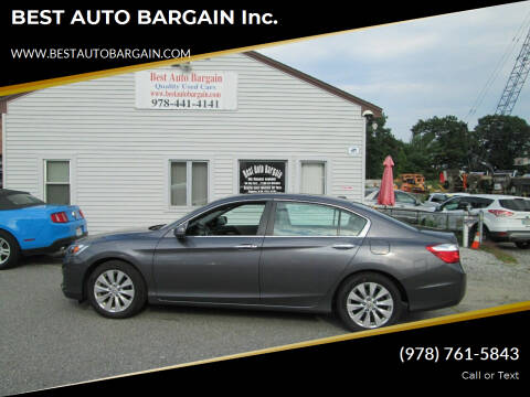 2014 Honda Accord for sale at BEST AUTO BARGAIN inc. in Lowell MA