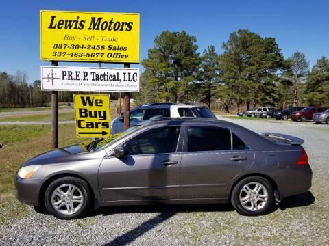 2007 Honda Accord for sale at Lewis Motors LLC in Deridder LA