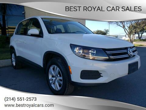 2012 Volkswagen Tiguan for sale at Best Royal Car Sales in Dallas TX