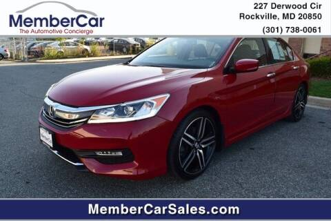 2016 Honda Accord for sale at MemberCar in Rockville MD