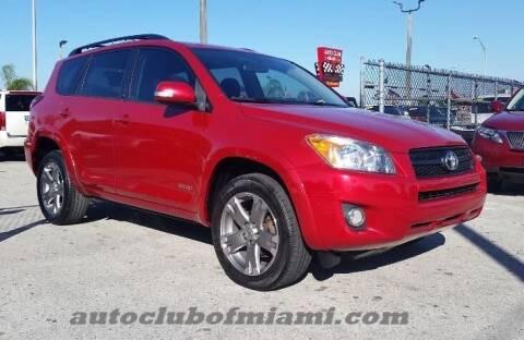 2011 Toyota RAV4 for sale at AUTO CLUB OF MIAMI, INC in Miami FL