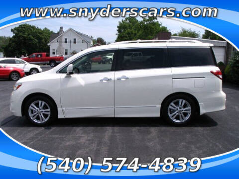 2013 Nissan Quest for sale at Snyders Auto Sales in Harrisonburg VA
