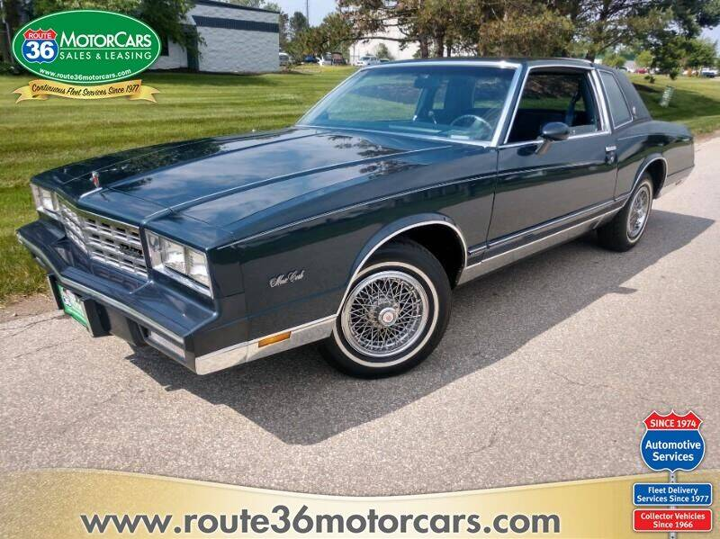 1985 Chevrolet Monte Carlo for sale at ROUTE 36 MOTORCARS in Dublin OH
