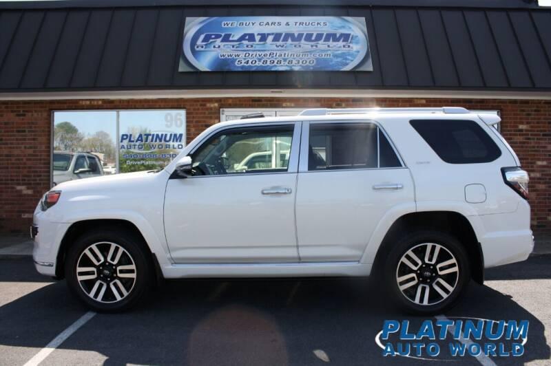 2015 Toyota 4Runner for sale at Platinum Auto World in Fredericksburg VA