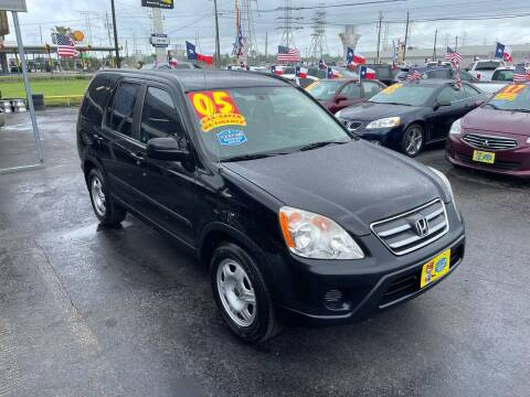 2005 Honda CR-V for sale at Texas 1 Auto Finance in Kemah TX