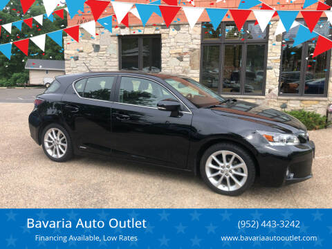 2013 Lexus CT 200h for sale at Bavaria Auto Outlet in Victoria MN
