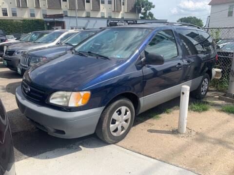 2002 Toyota Sienna for sale at Park Avenue Auto Lot Inc in Linden NJ