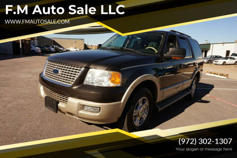 2005 Ford Expedition for sale at F.M Auto Sale LLC in Dallas TX