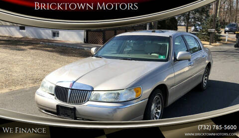 2002 Lincoln Town Car for sale at Bricktown Motors in Brick NJ
