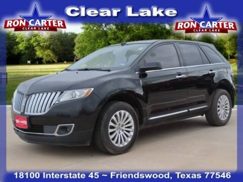 2013 Lincoln MKX for sale at Ron Carter  Clear Lake Used Cars in Houston TX