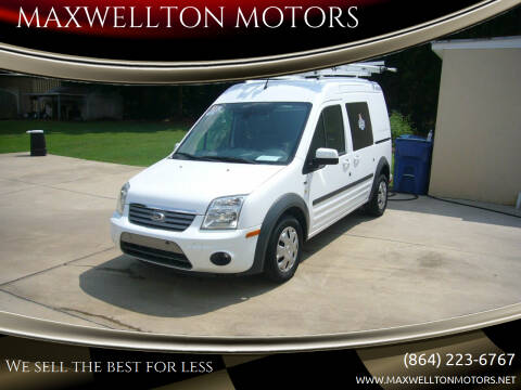 2013 Ford Transit Connect for sale at MAXWELLTON MOTORS in Greenwood SC