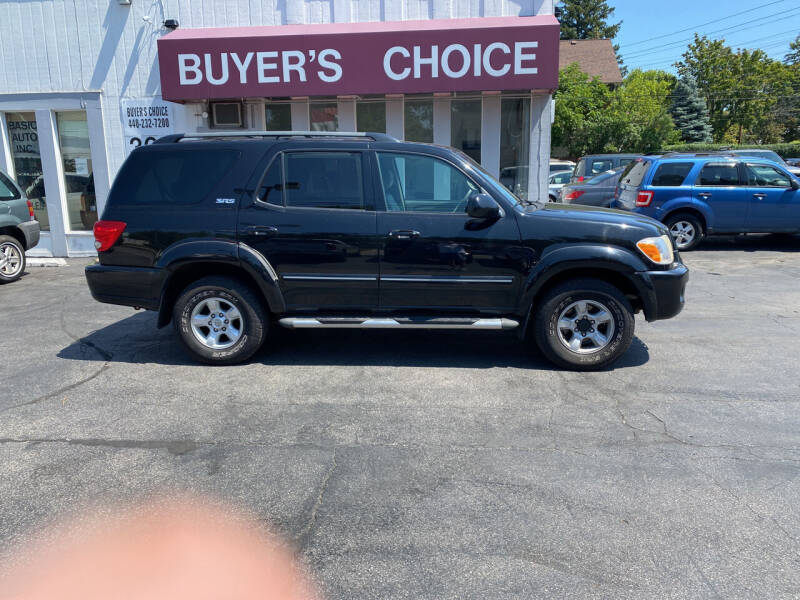 2005 Toyota Sequoia for sale at Buyers Choice Auto Sales in Bedford OH