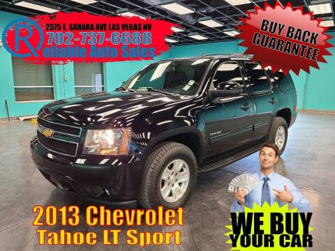 2013 Chevrolet Tahoe for sale at Reliable Auto Sales in Las Vegas NV