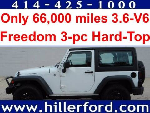 2014 Jeep Wrangler for sale at HILLER FORD INC in Franklin WI