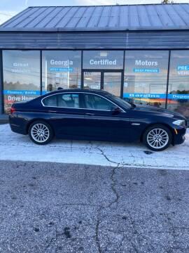 2011 BMW 5 Series for sale at Georgia Certified Motors in Stockbridge GA