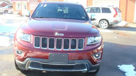 2016 Jeep Grand Cherokee for sale at Franklin Auto Sales in Herkimer NY