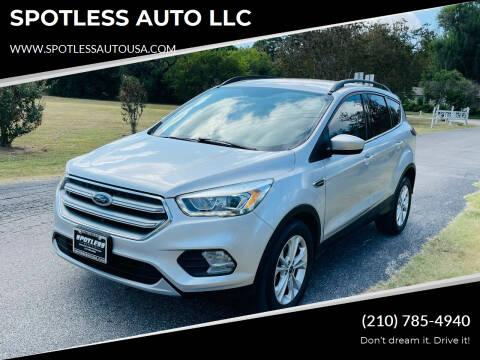 2017 Ford Escape for sale at SPOTLESS AUTO LLC in San Antonio TX