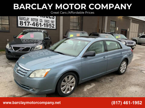 2007 Toyota Avalon for sale at BARCLAY MOTOR COMPANY in Arlington TX