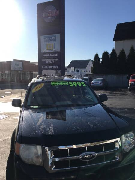 2010 Ford Escape for sale at Ramstroms Service Center in Worcester MA