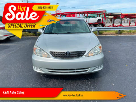 2002 Toyota Camry for sale at K&N Auto Sales in Tampa FL