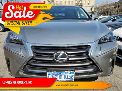 2017 Lexus NX 200t for sale at LUXURY OF QUEENS,INC in Long Island City NY