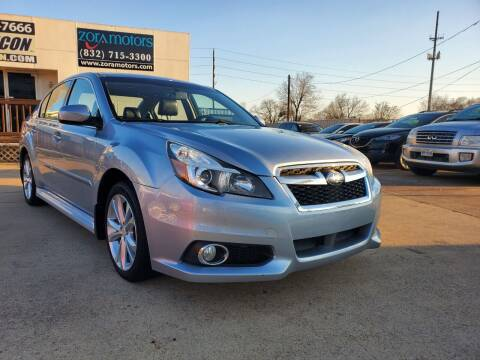 2014 Subaru Legacy for sale at Zora Motors in Houston TX