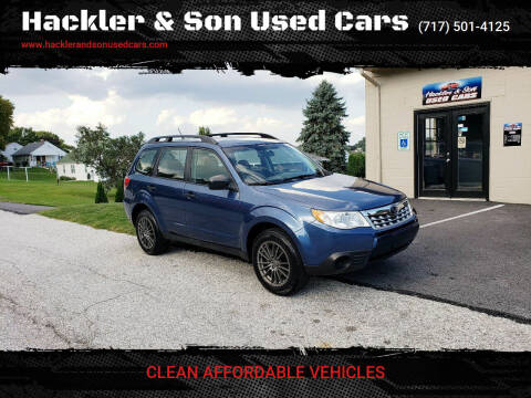 2012 Subaru Forester for sale at Hackler & Son Used Cars in Red Lion PA