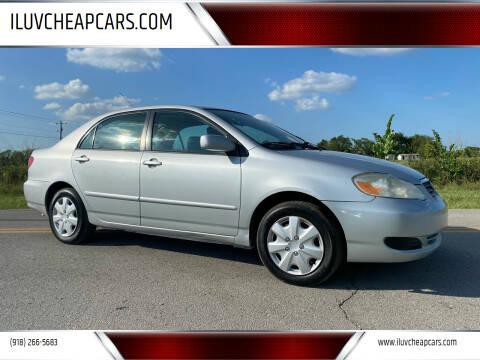 2007 Toyota Corolla for sale at ILUVCHEAPCARS.COM in Tulsa OK