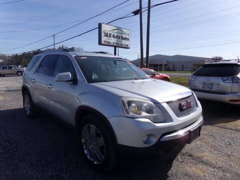 2010 GMC Acadia for sale at J & D Auto Sales in Dalton GA