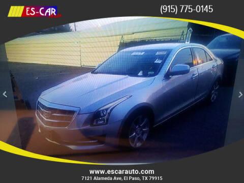 2015 Cadillac ATS for sale at Escar Auto in El Paso TX