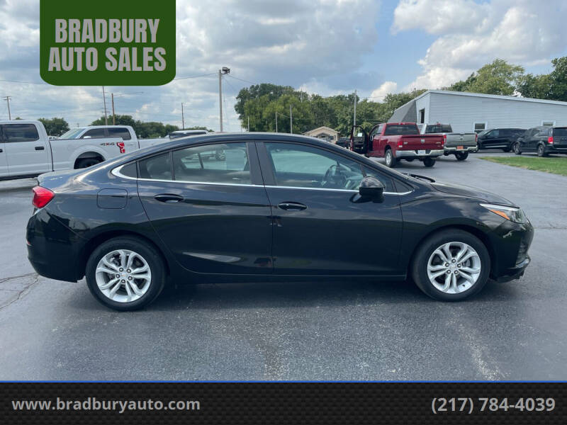 2019 Chevrolet Cruze for sale at BRADBURY AUTO SALES in Gibson City IL