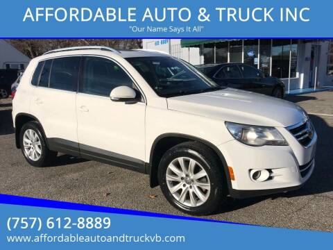2009 Volkswagen Tiguan for sale at AFFORDABLE AUTO & TRUCK INC in Virginia Beach VA