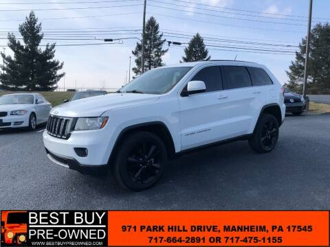 2013 Jeep Grand Cherokee for sale at Best Buy Pre-Owned in Manheim PA