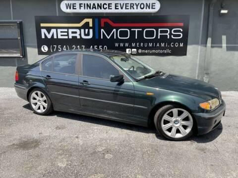 2002 BMW 3 Series for sale at Meru Motors in Hollywood FL