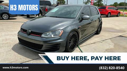 2015 Volkswagen Golf GTI for sale at H3 MOTORS in Dickinson TX