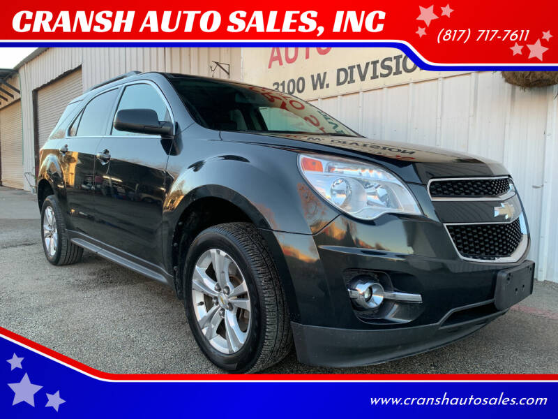 2011 Chevrolet Equinox for sale at CRANSH AUTO SALES, INC in Arlington TX