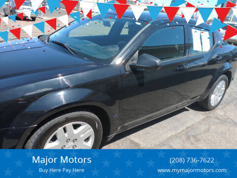 2013 Dodge Avenger for sale at Major Motors in Twin Falls ID