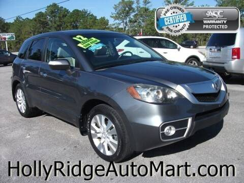 2012 Acura RDX for sale at Holly Ridge Auto Mart in Holly Ridge NC