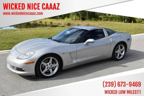 2007 Chevrolet Corvette for sale at WICKED NICE CAAAZ in Cape Coral FL