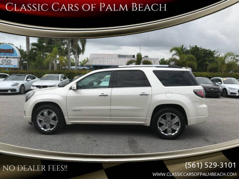 2014 GMC Acadia for sale at Classic Cars of Palm Beach in Jupiter FL